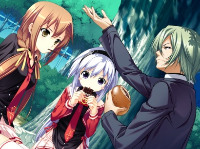 Everyone gets along fine till Mitsuba is revealed... sneaky wench
